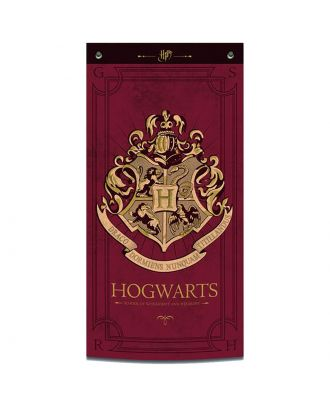 Harry Potter Hogwarts Burgundy Fabric Wall Banner
