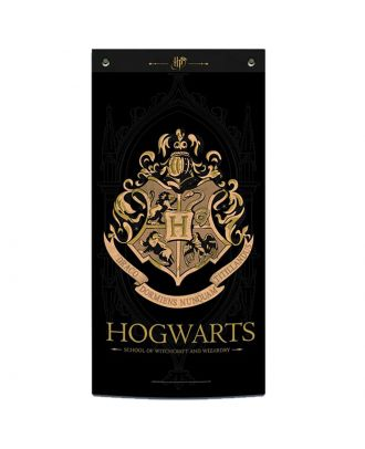 Harry Potter Hogwarts Black Fabric Wall Banner