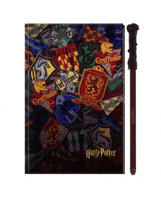 Harry Potter Hogwarts House Journal With Wand Pen