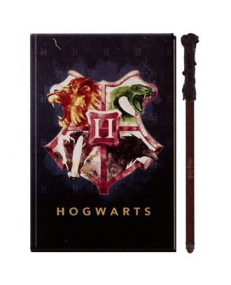 Harry Potter Hogwarts Art Crest Journal With Wand Pen