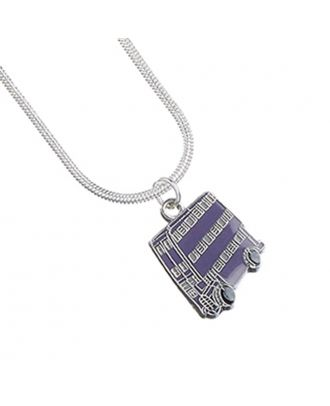 Harry Potter Silver Plated Knight Bus Necklace Detail