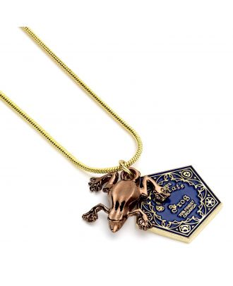 Harry Potter Chocolate Frog Gold Plated Chain Necklace