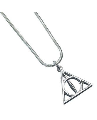 Harry Potter Silver Plated Deathly Hallows Necklace Detail