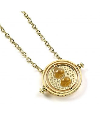 Harry Potter Gold Plated Spinning Time Turner Necklace
