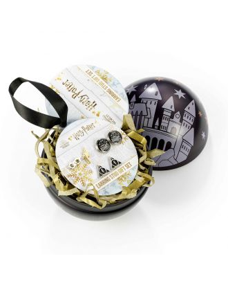 Harry Potter Hogwarts Castle with Earring Set Holiday Ornament