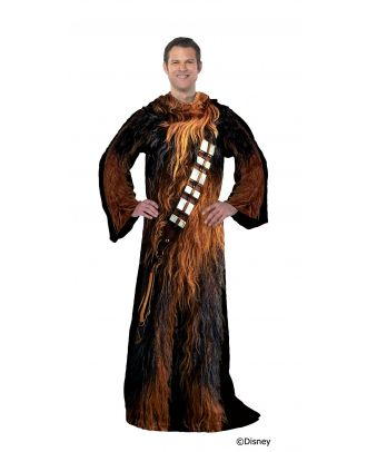 Star Wars Being Chewie Adult Comfy Throw Blanket with Sleeves