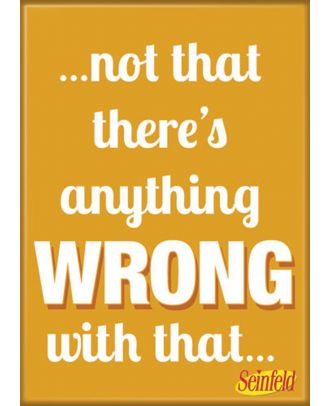 Seinfeld Not That Anything Wrong Photo Magnet