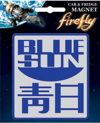 Firefly Blue Sun Car/Fridge Magnet