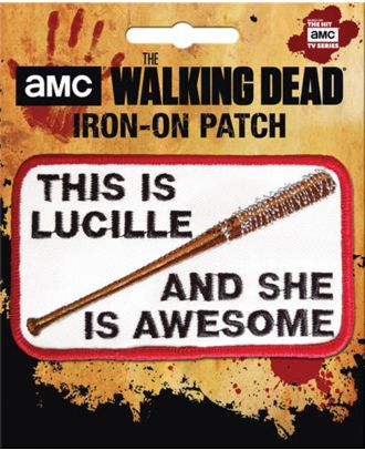 The Walking Dead This Is Lucille Iron-On Patch