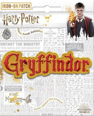 Harry Potter Gryffindor Name Iron On Patch