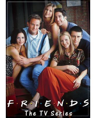 Friends Cast Brick Wall Background 3.5 x 2.5 inch Photo Magnet