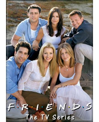 Friends Cast On Beach 3.5 x 2.5 inch Photo Magnet