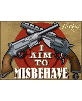 Firefly I Aim To Misbehave 3x2 Magnet