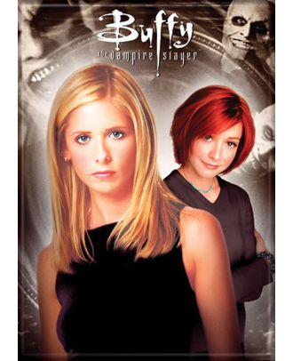 Buffy The Vampire Slayer Buffy and Willow Photo Magnet