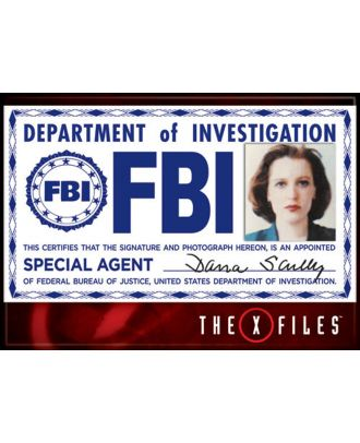 X-Files Scully FBI Badge Photo Magnet