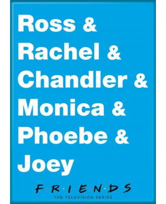 Friends Names 3.5 x 2.5 inch Photo Magnet