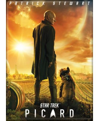 Star Trek Picard Poster With Dog Photo Magnet