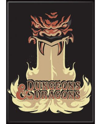 Dungeons and Dragons Monster Fire Logo 3.5 x 2.5 Magnet