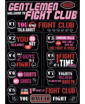 Fight Club Fight Club Rules Magnet