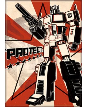 Transformers Protect 3.5 x 2.5 Magnet