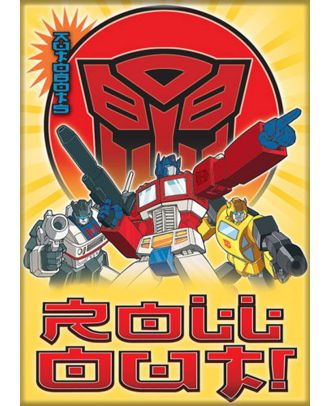 Transformers Autobots Group 3.5 x 2.5 Magnet