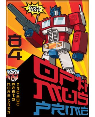 Transformers Roll Out Optimus 3.5 x 2.5 Magnet