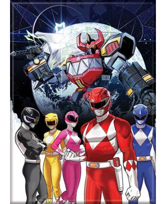 Power Rangers Group 3.5 x 2.5 Magnet