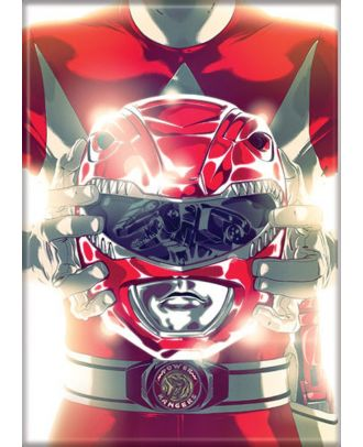 Power Rangers Red Ranger 3.5 x 2.5 Magnet
