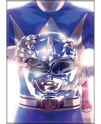 Power Rangers Blue Ranger 3.5 x 2.5 Magnet