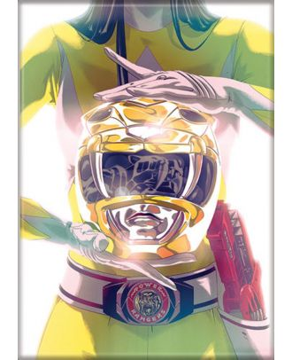 Power Rangers White Ranger 3.5 x 2.5 Magnet