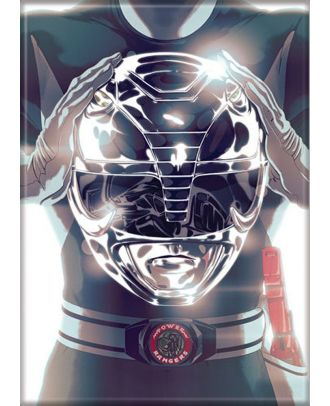 Power Rangers Black Ranger 3.5 x 2.5 Magnet