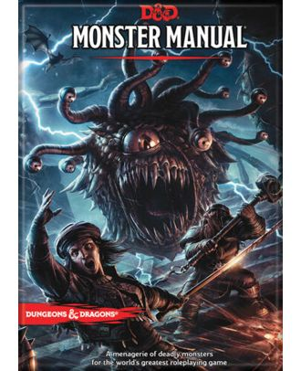 Dungeons and Dragons Monster Manual 5th Edition 3.5 x 2.5 Magnet