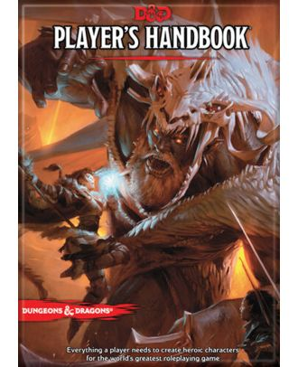 Dungeons and Dragons Player's Handbook 5th Edition 3.5 x 2.5 Magnet