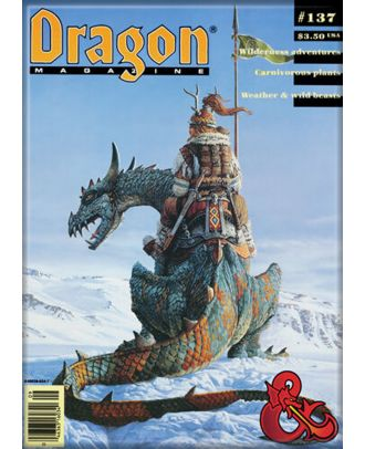 Dungeons and Dragons Dragon Magazine 137 3.5 x 2.5 Magnet