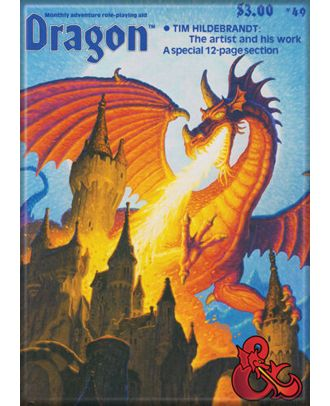 Dungeons and Dragons Dragon Magazine 69 3.5 x 2.5 Magnet