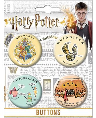 Harry Potter Whimsy Carded Button Set