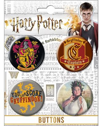 Harry Potter Gryffindor Carded Button Set