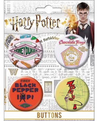 Harry Potter Hogsmeade Carded Button Set
