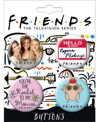 Friends Carded Buttons Set 5