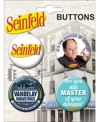 Seinfeld TV Show Carded Button Set 1