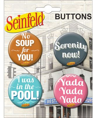 Seinfeld TV Show Carded Button Set 2
