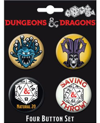 Dungeons and Dragons Four Button Carded Set 2
