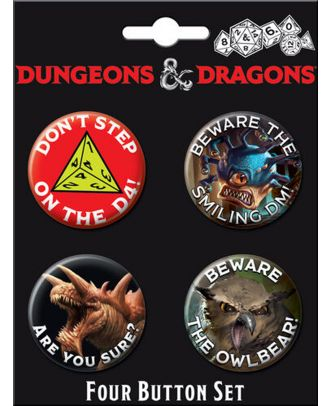 Dungeons and Dragons Four Button Carded Set 3
