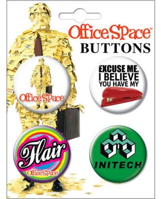 Office Space 4 Button Set 1