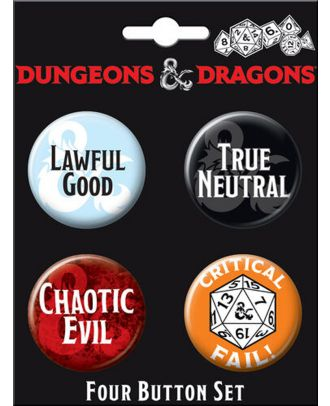 Dungeons and Dragons Four Button Carded Set 4