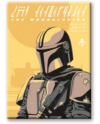 The Mandalorian Yellow Magnet