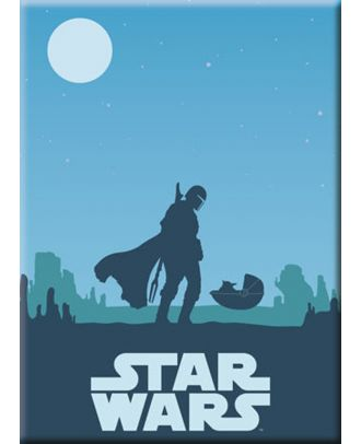 The Mandalorian - The Child Blue Sunset Magnet