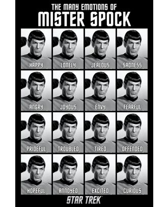 Star Trek- Emotions of Spock 24 x 36 Poster