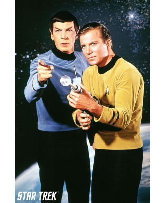 Star Trek Classic Kirk And Spock 24x36 Poster
