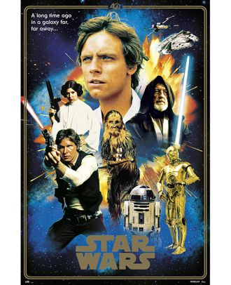 Star Wars - 40th Anniversary Heroes 24x36 Poster